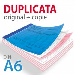 Carnets autocopiant duplicata A6