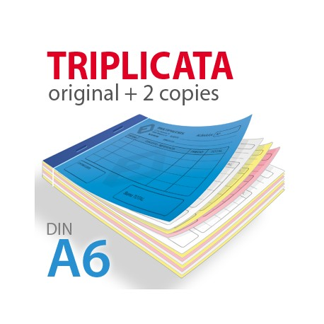Carnets autocopiants triplicata A6