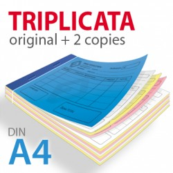 Carnets autocopiants triplicata A4