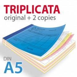 Carnets autocopiants triplicata A5
