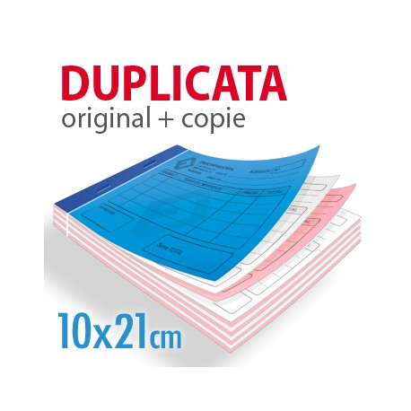 Carnets autocopiants duplicata 10x21cm