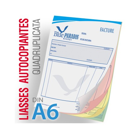 Liasses Autocopiantes Quadruplicata A6