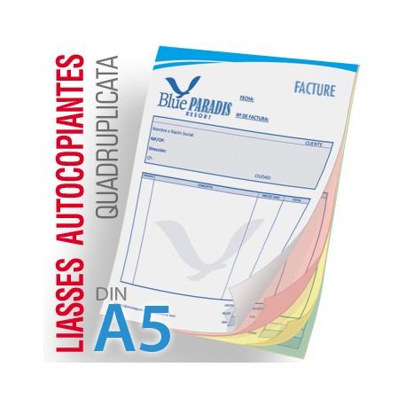 Liasses Autocopiantes Quadruplicata A5