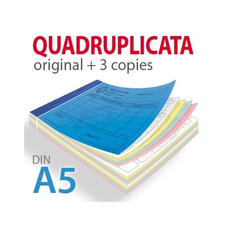 Carnets Autocopiants Quadruplicata A5