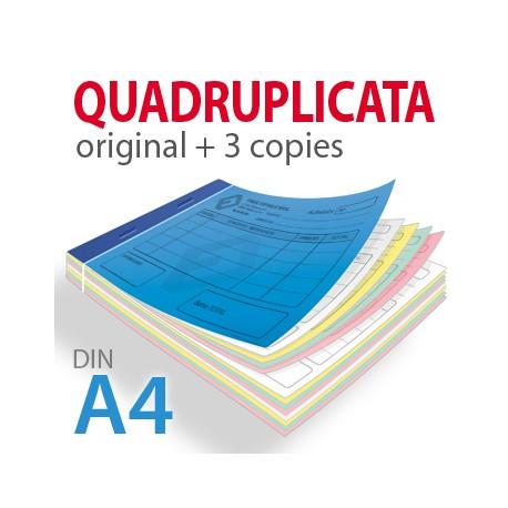 Carnets Autocopiants Quadruplicata A4