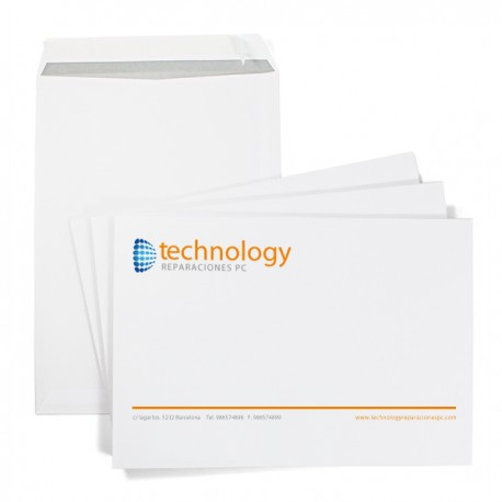 Enveloppe à pochette 22,9x32,4 cm (C4)